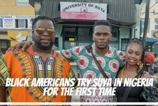 Black Americans Try Suya In Nigeria For The First Time