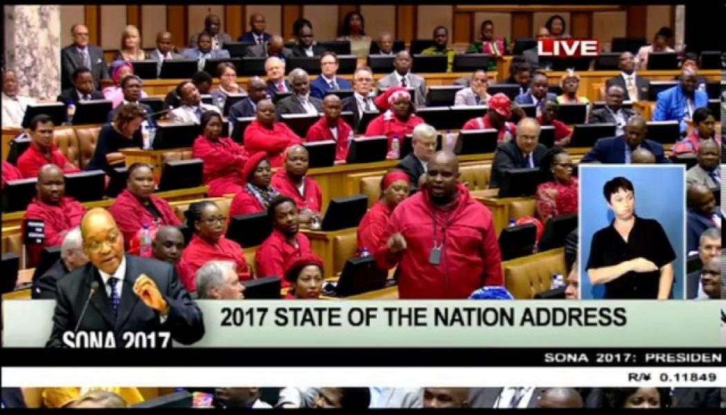EFF raises concerns over presence of police at #SONA2017