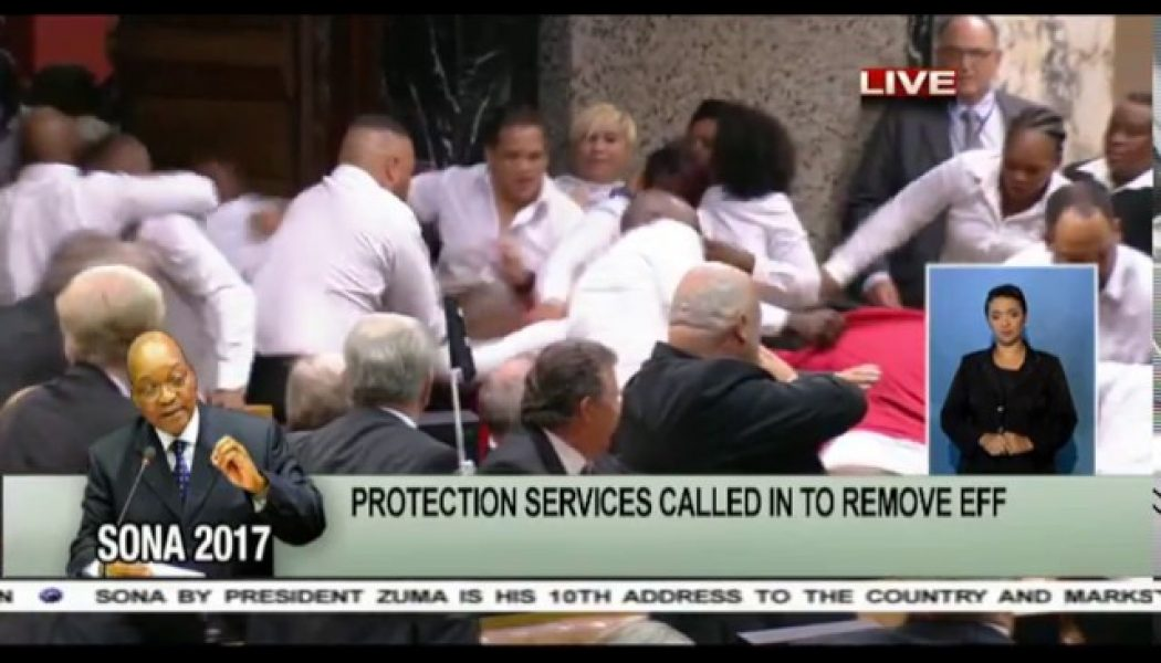 MUST WATCH  EFF forcefully removed from Parly 2017