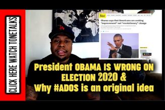President Barack Obama complains about left wing push of Democrats & Why #ADOS is an original idea