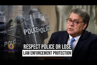 US Attorney General Says Respect Police Or Lose Law Enforcement Protection
