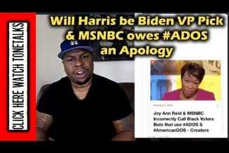 Will Joe Biden Really Pick Kamala Harris for VP? & Joy Reid & MSNBC Owe #ADOS an Apology