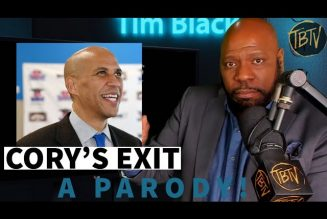 Cory Booker and Tim Black Talk About Cory's Exit (PARODY) | Tim Black