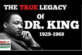 THE TRUE LEGACY OF MARTIN LUTHER KING