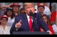 "Trump delivers incoherent speech, SHOCKINGLY call COPS at rally ""dirty dishonest slimeballs"""
