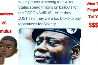 No Money For Your Reparations But Lots Of Money For The Stimulus?