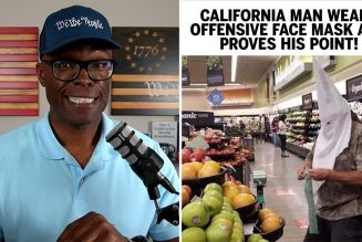 California Man Wears OFFENSIVE MASK In Grocery Store!