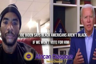 Joe Biden Says Black Americans Aren't Black If They Don't Vote For Him