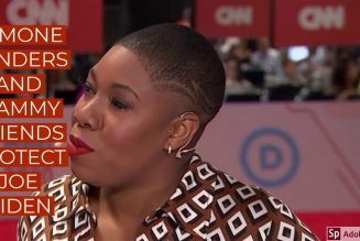 SYMONE SANDERS AND MAMMY FRIENDS PROTECT JOE BIDEN