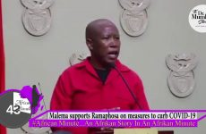 #TBT Malema SUPPORTS Ramaphosa on measures to curb COVID 19