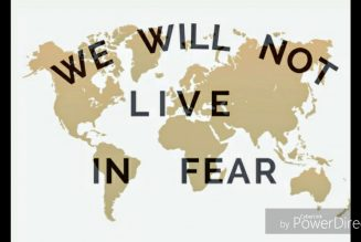 People refuse to live in fear