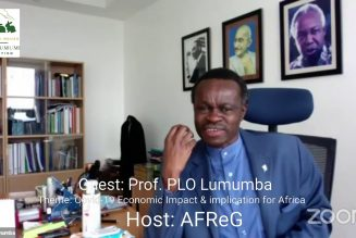 Prof. PLO Lumumba on Economic impact of Covid-19 and Implication for Africa; Event hosted by AFReG