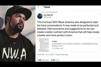 Ice Cube's Contract for Black People . . .  Let's review it shall we?!!!