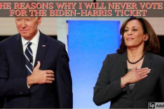 THE REASONS WHY I WILL NEVER VOTE FOR THE BIDEN-HARRIS TICKET
