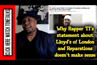 Why Rapper TI statement about  Lloyd's of London and Reparations doesn't make sense.
