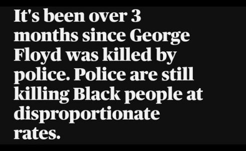 Nothing's changed since George Floyd's murder