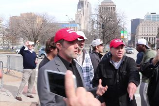 Trump supporters in St Louis