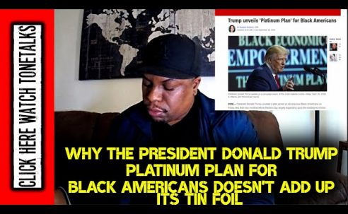 Why the President Donald Trump Platinum Plan for Black America doesn't add up it's Tin Foil