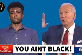 Joe Biden Insults Young Black Voter During ABC Town Hall | Tim Black