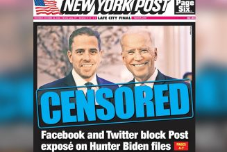 NY Post Story Exposes Unchecked Censorship Powers Of Twitter And Facebook