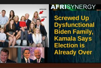 Screwed Up Dysfunctional Biden Family, Kamala Says Election is Already Over