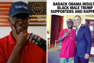 Barack Obama INSULTS Black Male Trump Supporters And Rappers