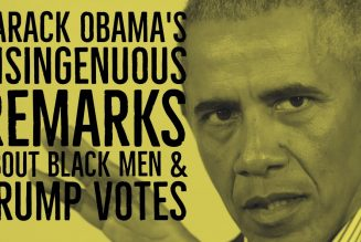 Barack Obama's Self Serving & Disingenuous Remarks About Black Male Trump Voters & Rap Music