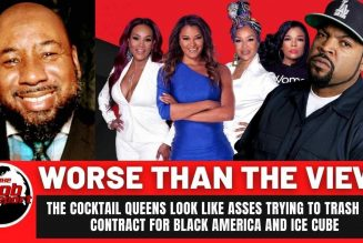 Cocktail with The Queens/Worse than the view? #icecube #contractwithblackamerica #blackagenda