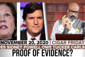 DOES SIDNEY POWELL OWE TUCKER CARLSON PROOF OF EVIDENCE? | The Stewart Alastair Edition