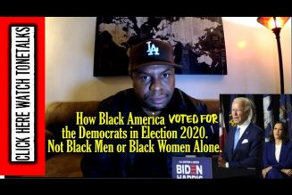 How Black America Voted for the Democrats in Election 2020. Not Black Men or Black Women Alone.