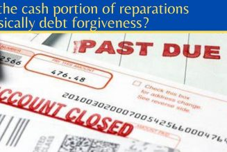 Is the cash portion of reparations basically debt forgiveness?