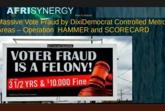 Massive Vote Fraud by DixiDemocrat Controlled Metro Areas – Operation  HAMMER and SCORECARD