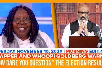 TAPPER AND WHOOPI GOLDBERG WARN HOW DARE YOU QUESTION THE RESULTS | The Stewart Alastair Edition