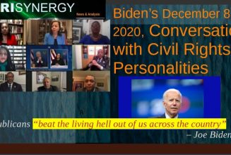 Biden's December 8, 2020, Conversation with Civil Rights Personalities