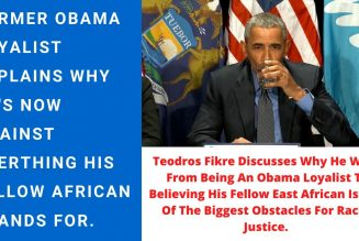 Fmr. Obama Loyalist Explains Why He Now Believes Obama Is The Biggest Obstacles To Racial Justice.