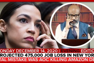 PROJECTED 475K JOB LOSS N.Y. FATAL MISTAKE: AOC KILLING AMAZON DEAL | The Stewart Alastair Edition