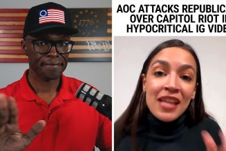 Hypocritical AOC Slams Capitol Riots, Turns Blind Eye To BLM