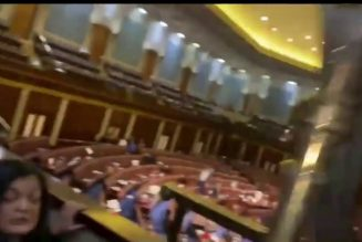 Members of the House HIDE from protesters storming Capitol