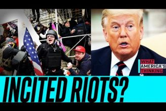 NEW POLL: 55% say CAPITOL RIOTS were mostly the MOB, NOT Trump