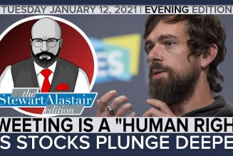"""TWEETING IS A """"HUMAN RIGHT"""" AS STOCK PLUNGE DEEPER 