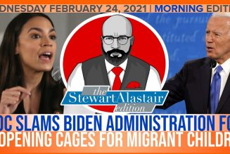 AOC SLAMS BIDEN ADMINISTRATION FOR REOPENING CAGES FOR MIGRANT KIDS | The Stewart Alastair Edition