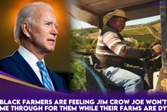 Black Farmers Are Feeling Jim Crow Joe Won't Come Through For Them While Their Farms Are Dying