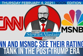 CNN AND MSNBC SEE THEIR RATINGS TANK IN THE POST-TRUMP ERA | The Stewart Alastair Edition