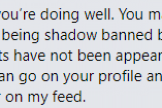 Morning fam, Wanna share and respond to this inbox from one of my supporters. I am being shadow banned.