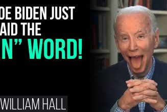 WOW: Joe Biden Just Said The N-Word!