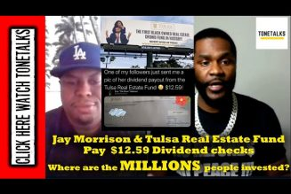 Jay Morrison & Tulsa Real Estate Fund Pay  $12.59 Dividends. Where are the MILLIONS people invested?