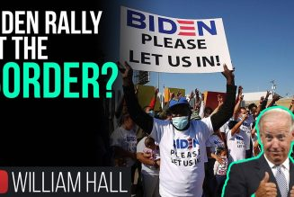Migrants At US Border Wearing Biden T-Shirts 'PLEASE LET US IN!'