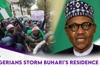 Nigerians Storm Buhari's Residence After He Went To U.K For Medical Check Up
