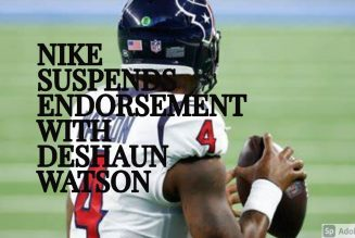 NIKE SUSPENDS ENDORSEMENT WITH DESHAUN WATSON