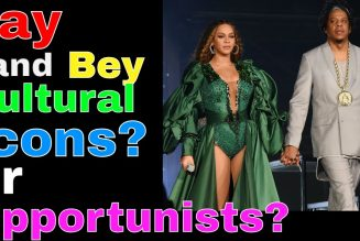 Jay Z and Beyonce.  Cultural Icons, or Opportunists?